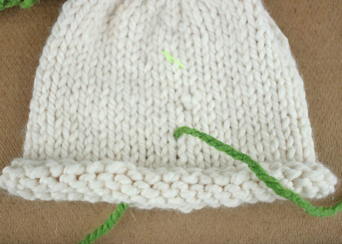 How to Embroider on Knitted Items - Gina Michele
