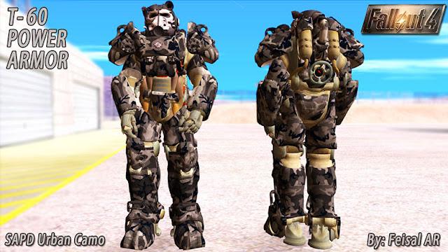 T60 Power armor skin mod for GTA San Andreas