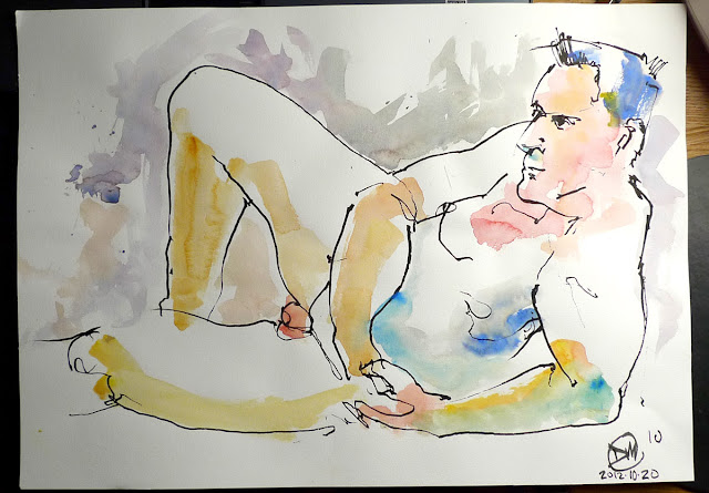 10 minute life drawing sketch by David Meldrum