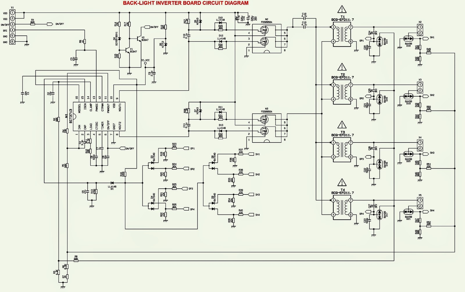 hight resolution of back light inverter schematic