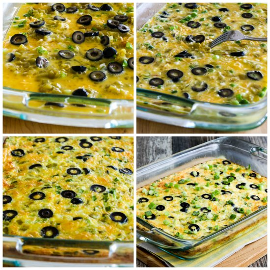 Bobbi's Low-Carb Breakfast Casserole with Egg, Cheese, and Green Chiles from KalynsKitchen.com