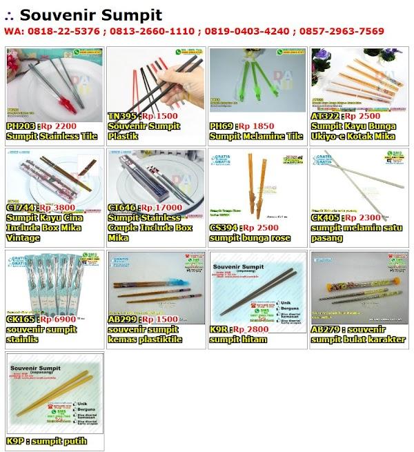Daftar Harga Souvenir Sumpit
