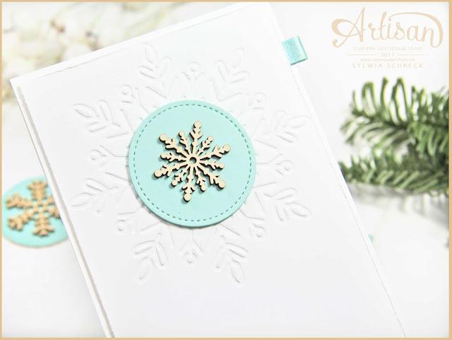 Stampin Up Weihnachtskarten mit Schneeflocke