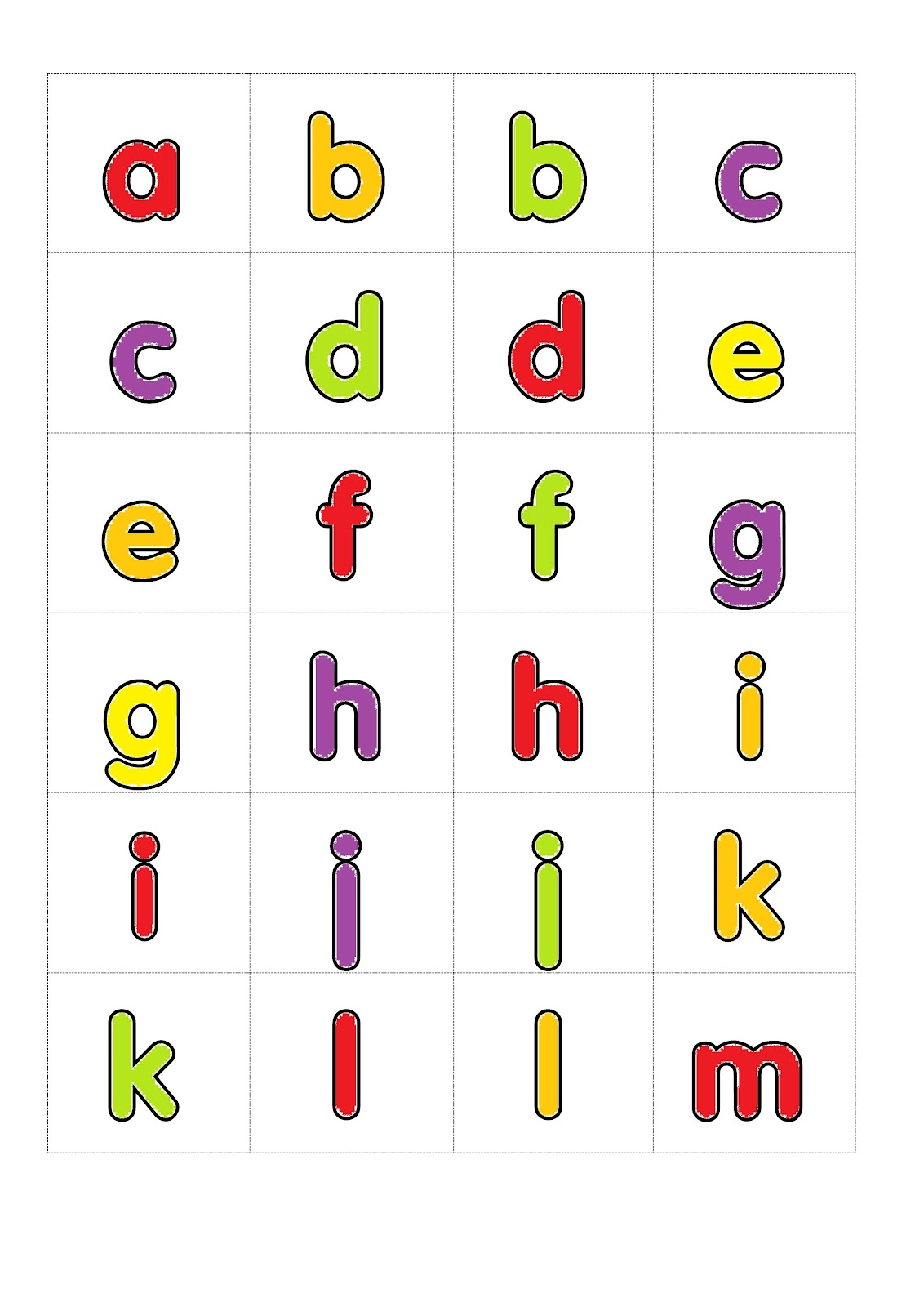 I,Teacher: Printable Alphabet Games: Memory Letter Tiles