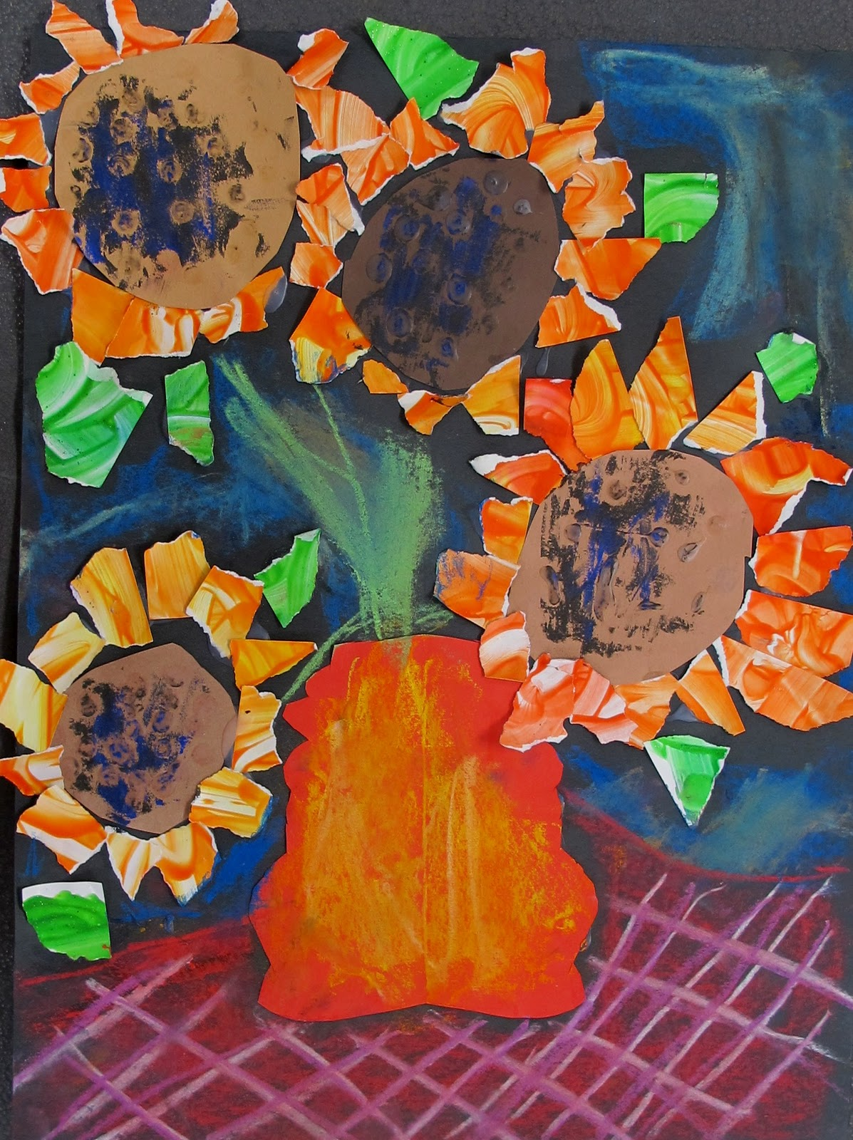 North Art Alert First Grade Sunflowers