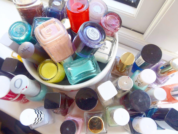 A Huge Nail Polish Declutter
