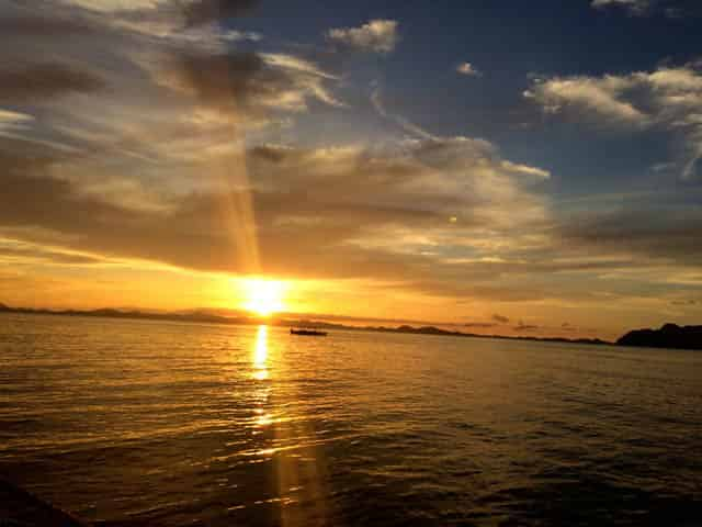 Sunset View of Malcapuya Island