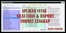 Aplikasi Cetak Nilai UAS & Raport Format Lengkap Juknis Terbaru