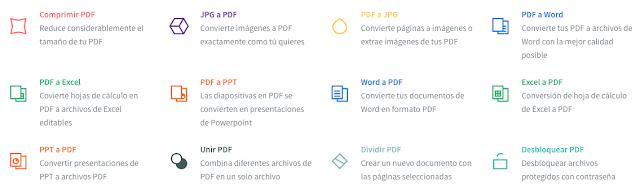 Small PDF - Comprime, une, divide, desbloquea y cambia de formato cualquier archivo PDF