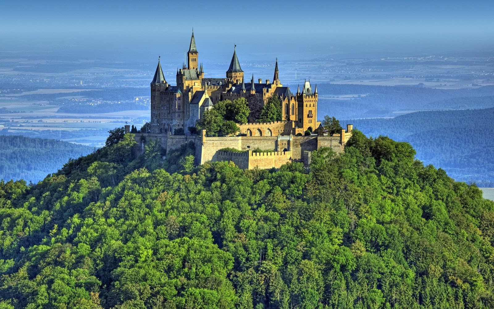 Hohenzollern Castle, Germany. Hohenzollern Castle is the ancestral ...