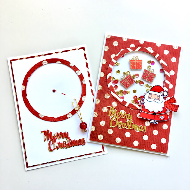 Christmas Cards by Angela Tombari using BoBunny Santa & Friends Stamp Set
