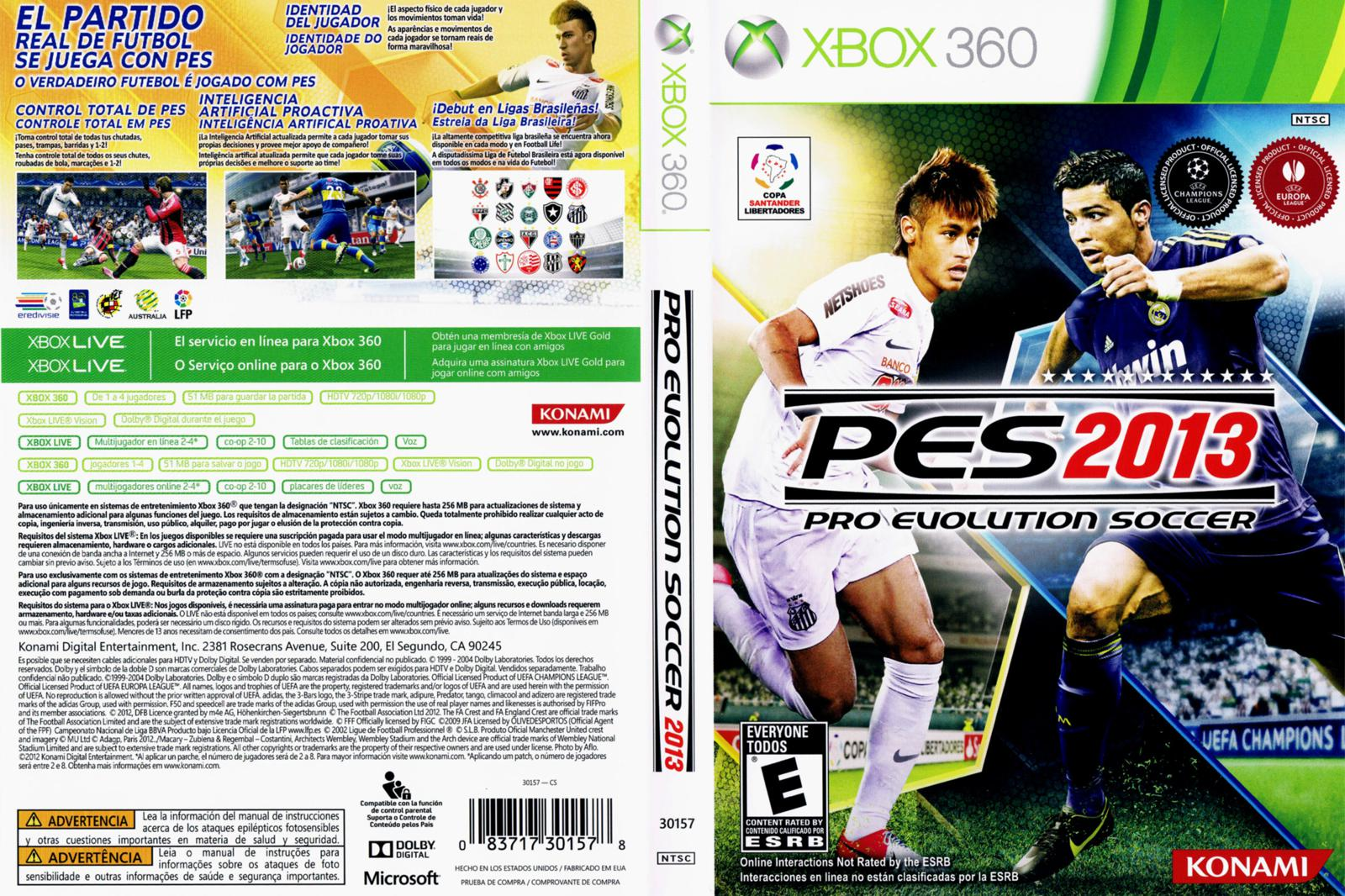 Pro Evolution Soccer 2013 - Completo (XBOX360) ~ Torrent Downs Xbox 360 Game Covers Download