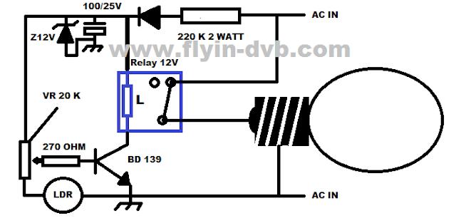 Rangkaian lampu malam otomatis sederhana