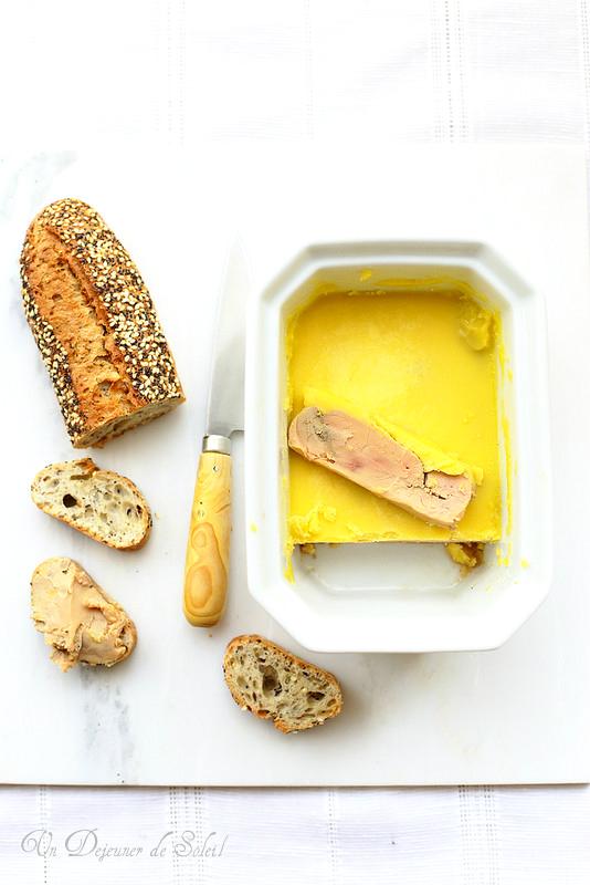 Foie gras mi-cuit au micro-ondes