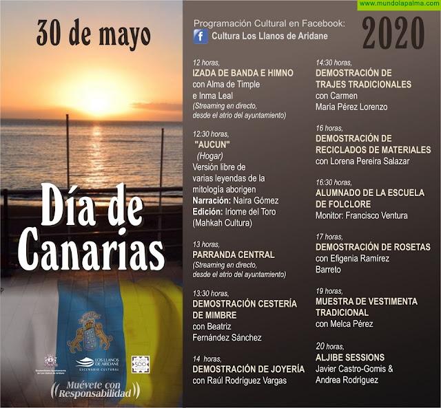Los Llanos de Aridane celebrará el Día de Canarias con la difusión virtual de vídeos de artesanía y actuaciones musicales en directo a través de internet