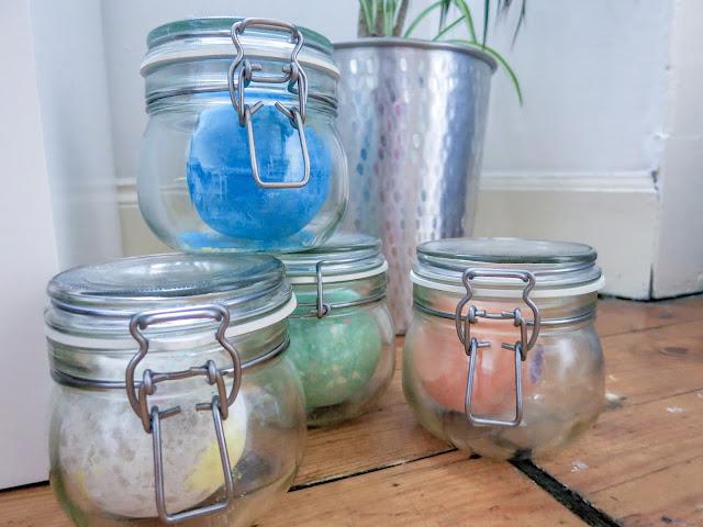 Lush Bath Bombs in Mason jars