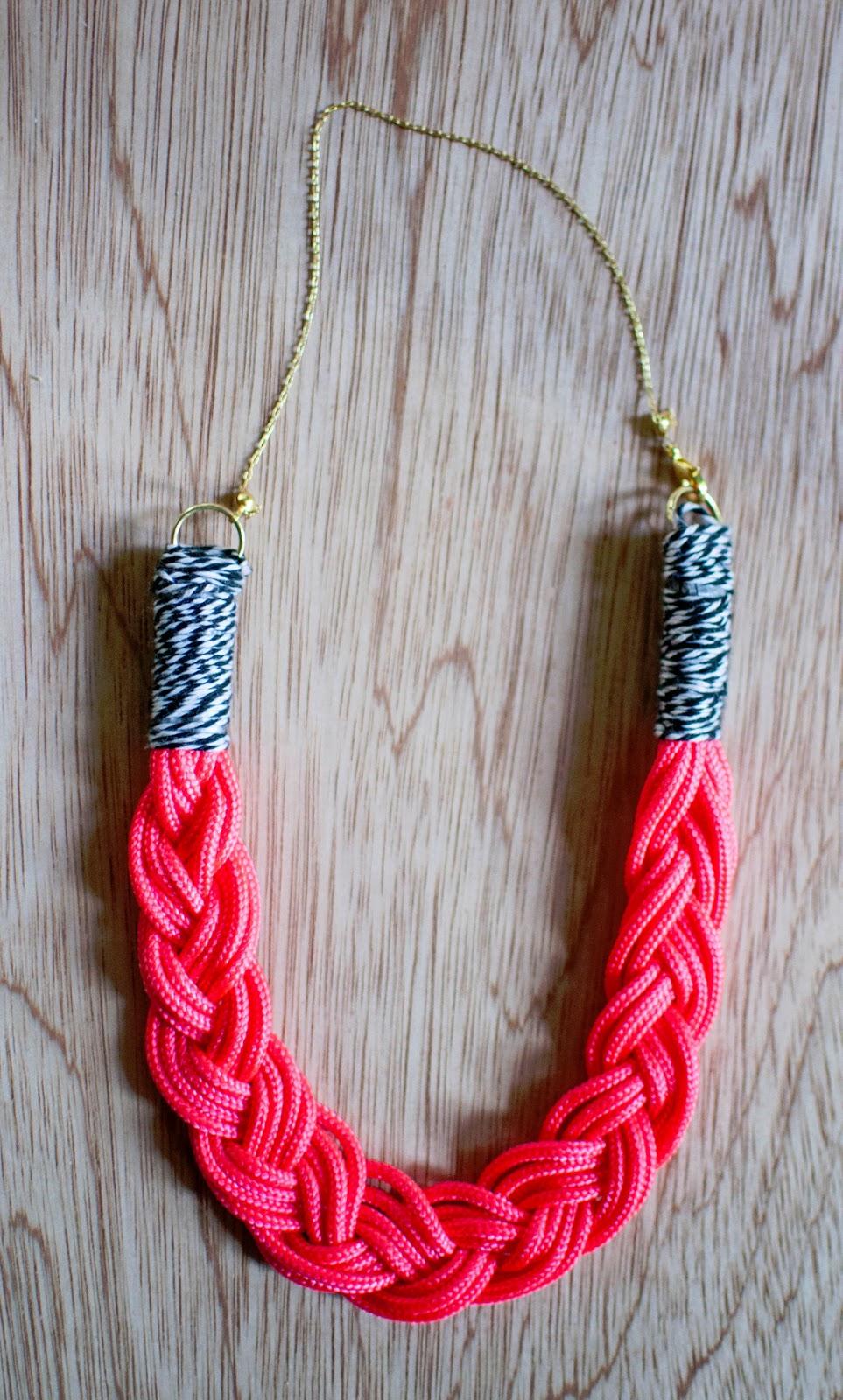 art actually: braided necklace diy.