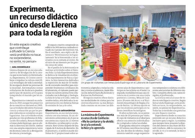 Expermienta, Centro Interactivo de Ciencia, Llerena