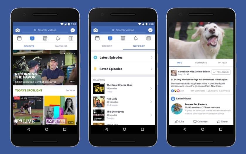 فيسبوك تطلق خدمة Watch لمنافسة اليوتيوب إلى جميع المستخدمين