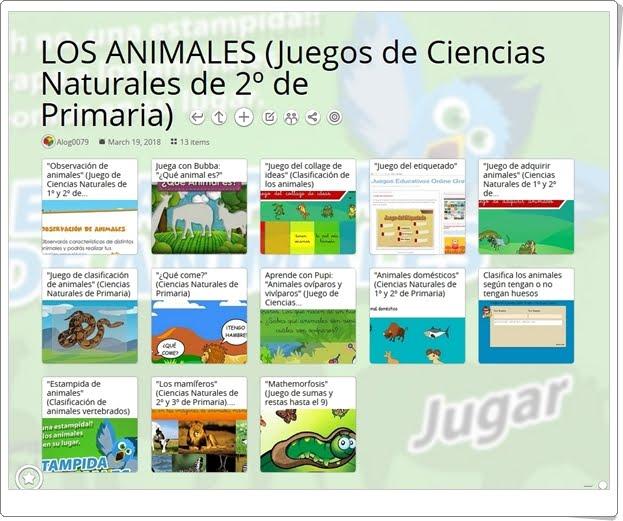 """""""13 Juegos para el estudio de LOS ANIMALES en Ciencias Naturales de 2º de Primaria"""""""