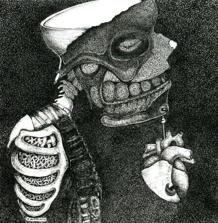 Темные, мрачные и фигуративные картины