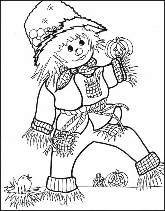 Enchanted scarecrow coloring pages - Hellokids.com | 701x550