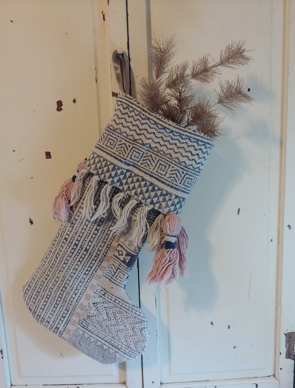stocking from a rug