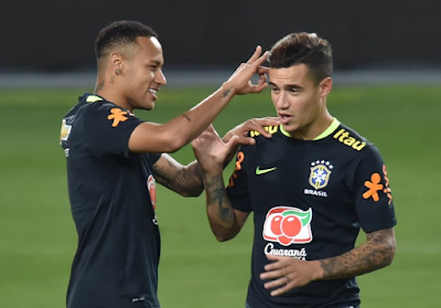 image of Neymar and Coutinho