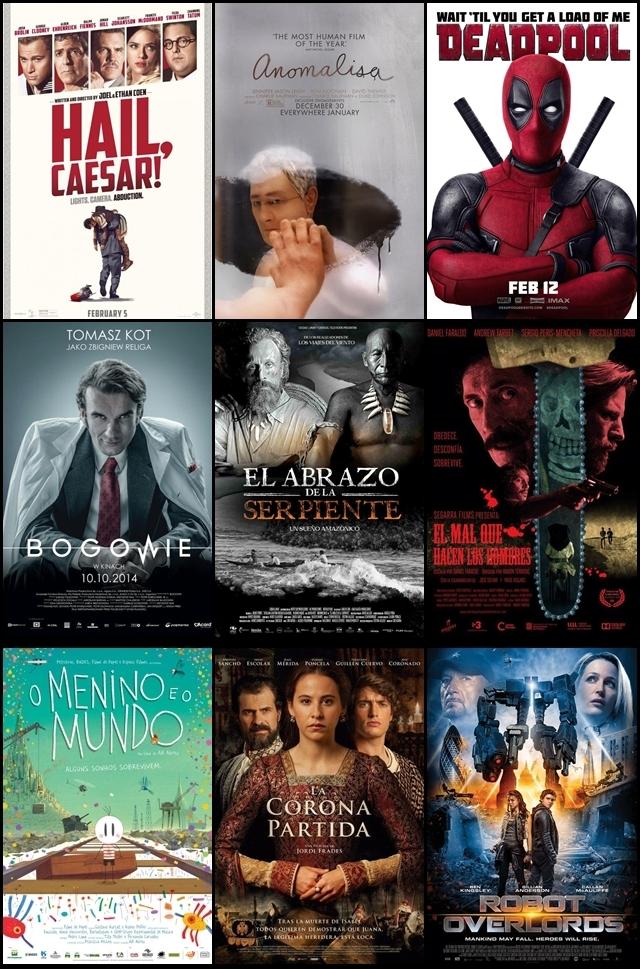 Estrenos, cines, febrero, 2016