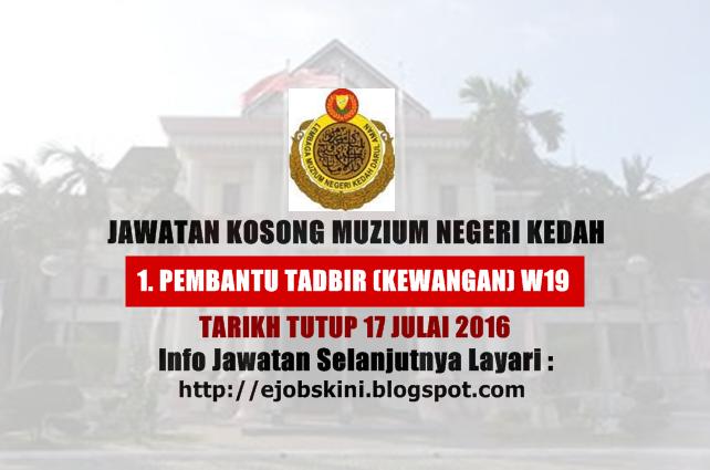 Jawatan Kosong Muzium Negeri Kedah