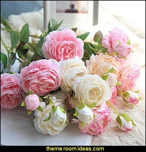 Peony Flower Silk Bouquet Bridal Hydrangea for Home Garden Wedding