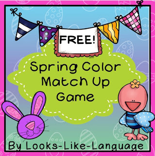 FREE printable worksheets to go with the open ended Spring game from Looks-Like-Language!