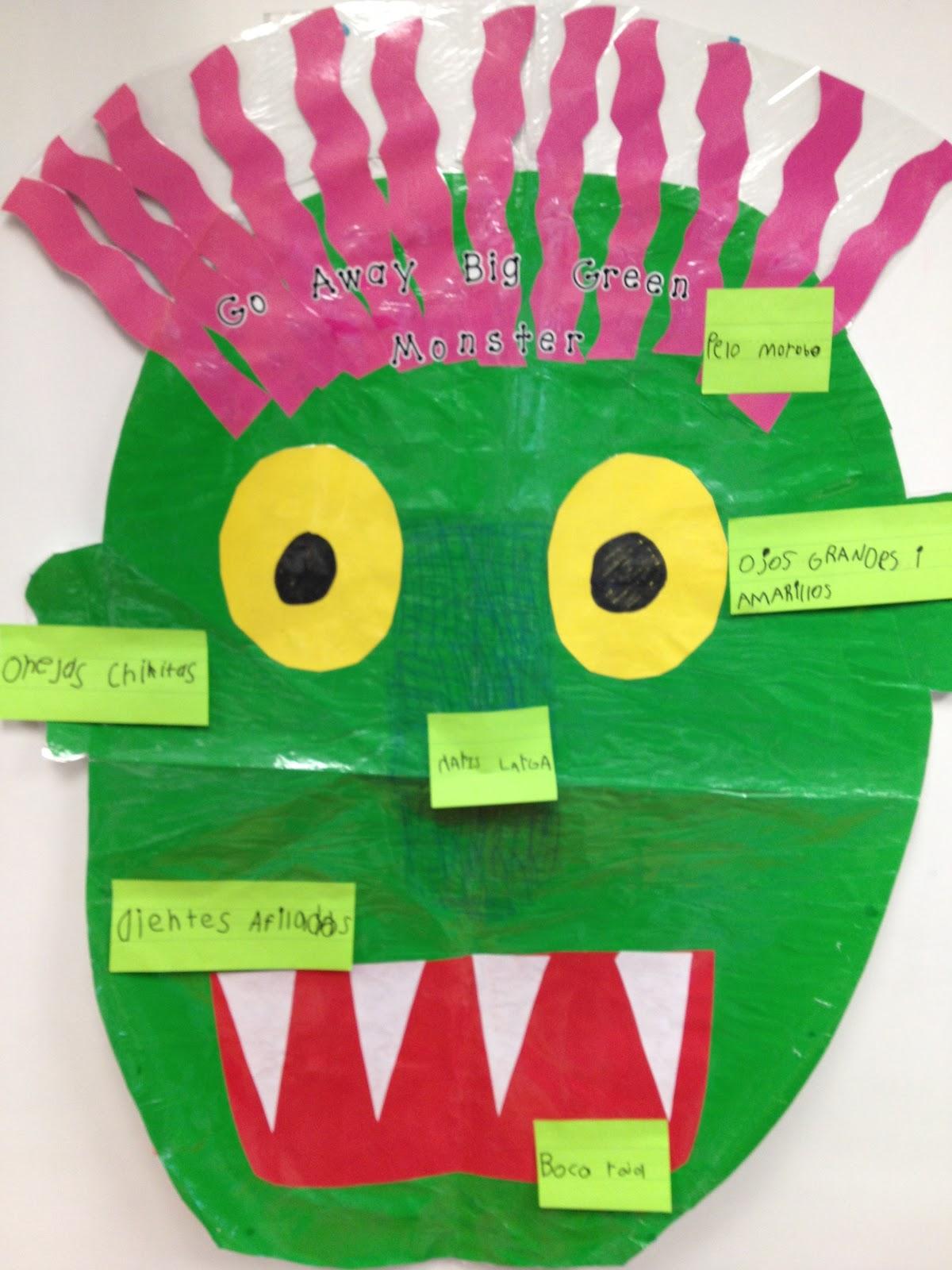 Kinder Dual Language Divas Go Away Big Green Monster