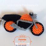 patron gratis moto amigurumi | amigurumi free pattern motorcycle