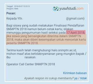 Solusi Cetak Kartu SNMPTN 2018