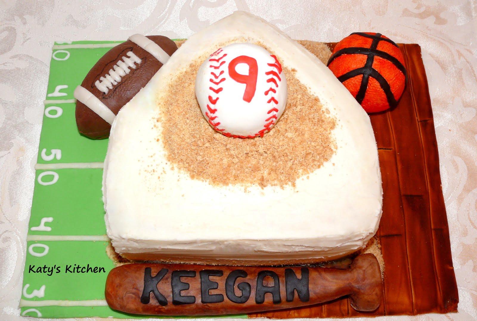 how to make a baseball cake at home