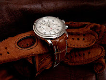 Blancpain Leman Flyback Chronograph on Vintage Cognac Alligator strap with TCLS