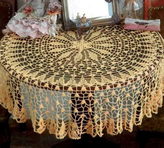 pineapple crochet doily diagram plot terms art: tablecloth free pattern - fine