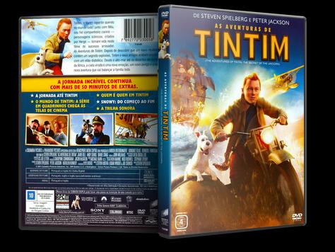 Capa DVD As Aventuras de Tintim