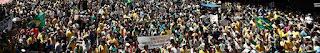 Manifestantes protestam contra corrupção em todo o país