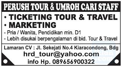 Lowongan Kerja Staff Tour & Travel