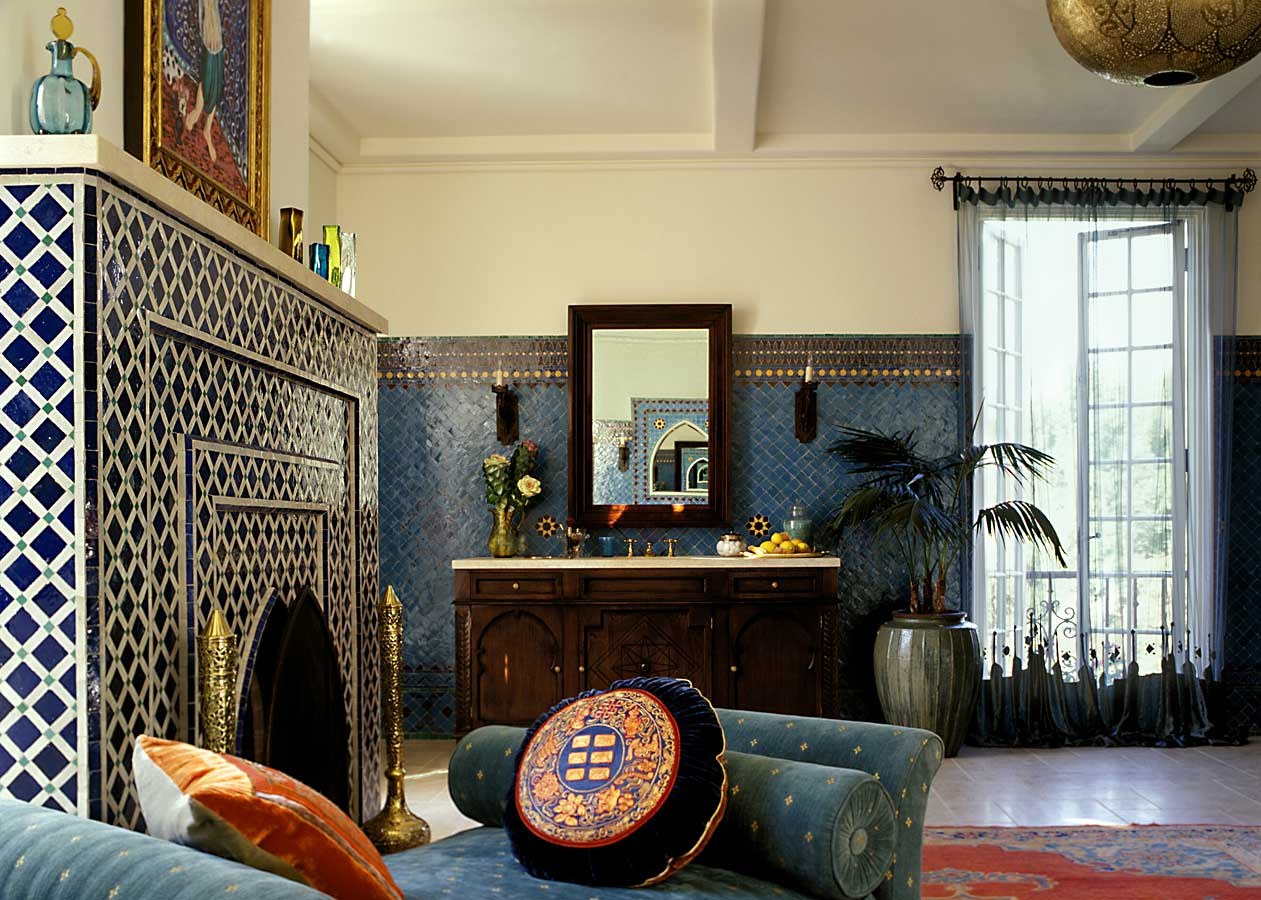 Moroccan Design Ideas To Da Loos Moroccan Dreams Blue Bathroom