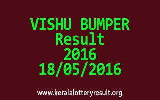 VISHU BUMPER BR 49 Lottery Result 18-05-2016