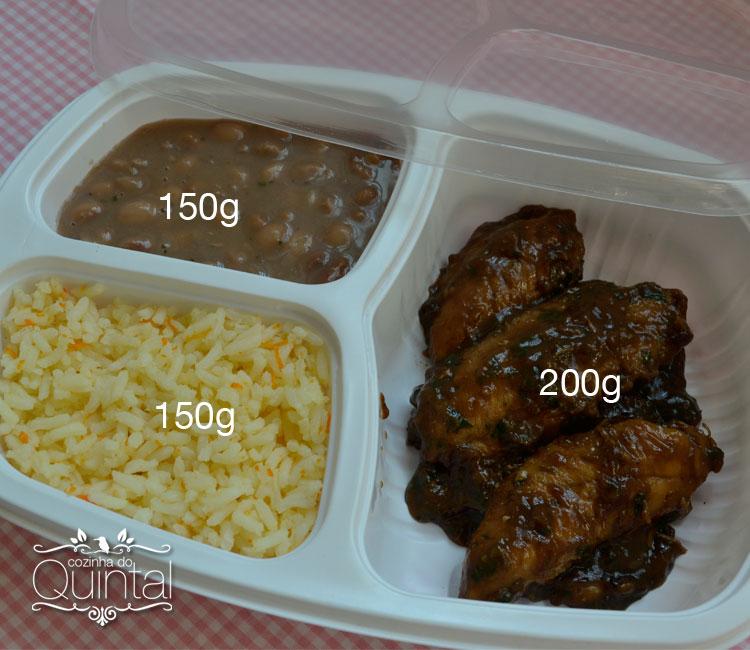 Distribua os alimentos de acordo com o perfil do seu público, esse é o segredo para uma marmita bem feita =)