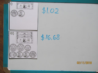 Counting Dollars and Coins Task Cards