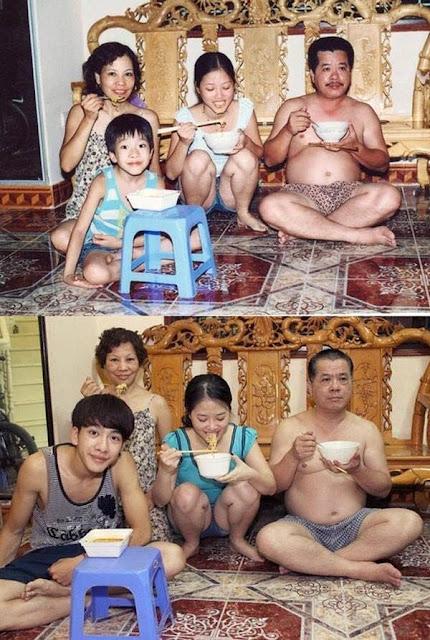 foto unik keluarga yang tidak berubah momennya setelah puluhan tahun-11