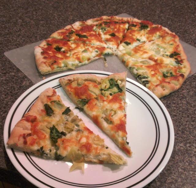 Spinach Artichoke Pizza: The Hungry Hood: Spinach, Artichoke, & Feta Pizza