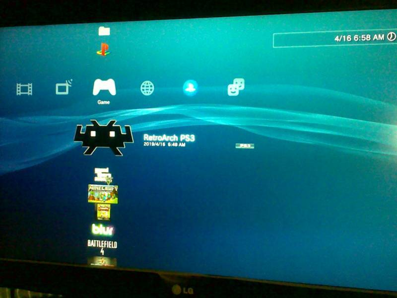 Retro gaming PS3 : Main game Retro di PS3