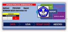 Aplikasi Raport dari kelas I - VI