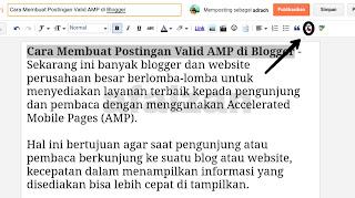 Cara Membuat Postingan Valid AMP di Blogger